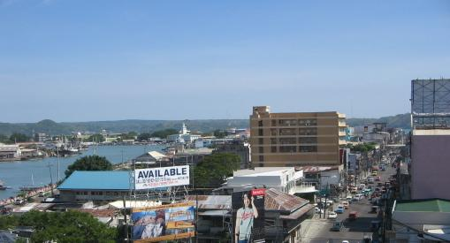 View of downtown Iloilo from the Capitol building